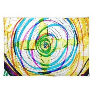 Salvamanteles Cruces de Cartoids del fractal y la banda espiral
