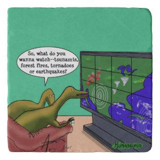 Salvamanteles Dibujo animado de la parodia de los dinosaurios