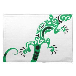 Salvamanteles Dibujo del lagarto verde