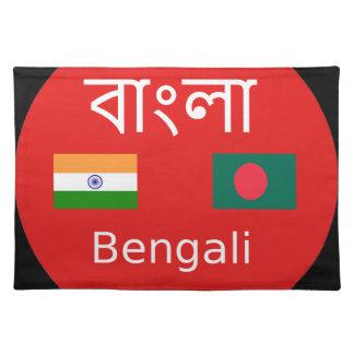 Salvamanteles Diseño bengalí de la lengua