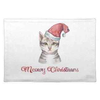 Salvamanteles Diseño del navidad de Meowy para los amantes del
