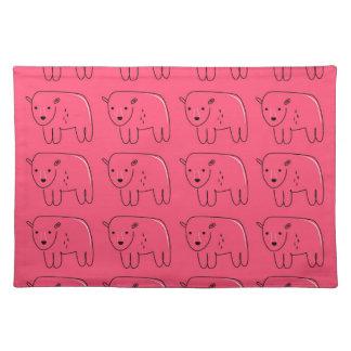 Salvamanteles Diseño dulce rosado pintado peluches