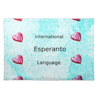 Salvamanteles Diseño internacional de la lengua del esperanto