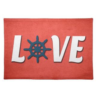 Salvamanteles Diseño náutico del amor