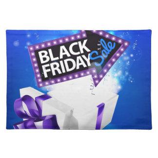 Salvamanteles Diseño negro del arco del regalo de la venta de