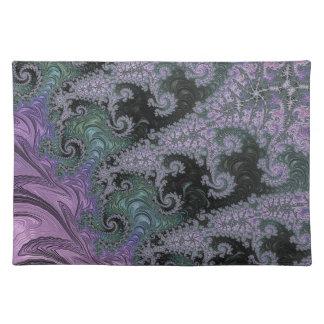 Salvamanteles Diseño púrpura del comedor de Placemat del