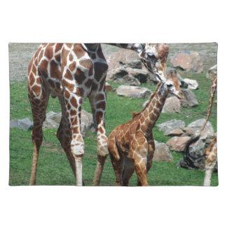 Salvamanteles El animal del safari de África de la jirafa