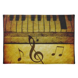 Salvamanteles El piano cierra el vintage