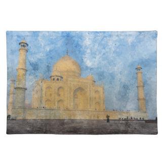 Salvamanteles El Taj Mahal en Agra la India