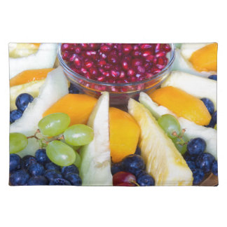 Salvamanteles Escala de cristal por completo de diversas frutas