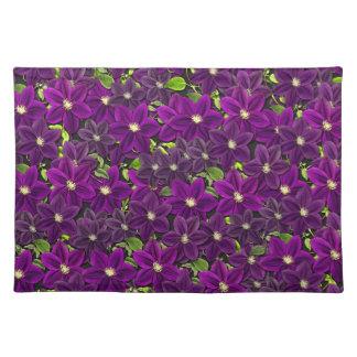 Salvamanteles Estampado de flores púrpura
