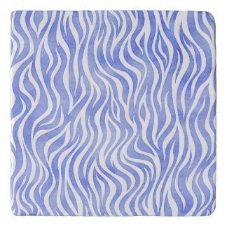 Salvamanteles Estampado de zebra azul de la acuarela del dril de