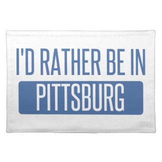 Salvamanteles Estaría bastante en Pittsburg