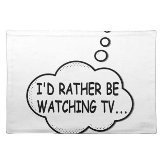 Salvamanteles Estaría viendo bastante la TV