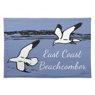 Salvamanteles Estera de lugar del Beachcomber de la costa este