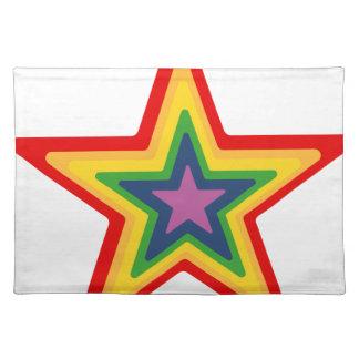 Salvamanteles Estrella del arco iris