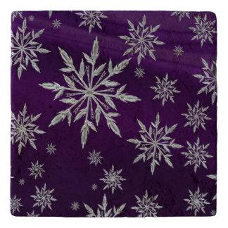 Salvamanteles Estrellas púrpuras del navidad con el cristal de