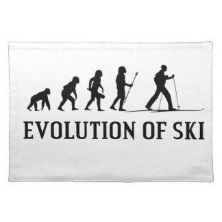Salvamanteles Evolución del esquí