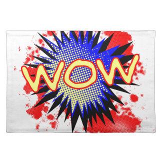 Salvamanteles Exclamación cómica del wow