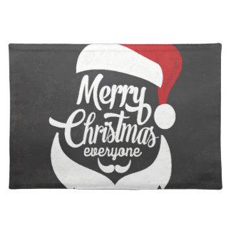 Salvamanteles Felices Navidad de la camiseta