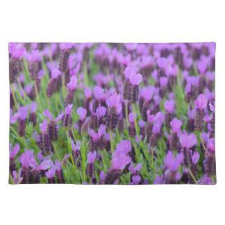 Salvamanteles Flor española púrpura de la lavanda