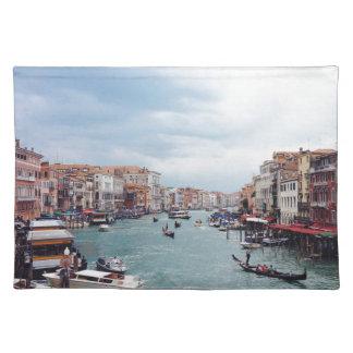 Salvamanteles Foto del canal de Italia Venecia del vintage