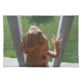Salvamanteles Foto linda de Beardie de los amantes del lagarto