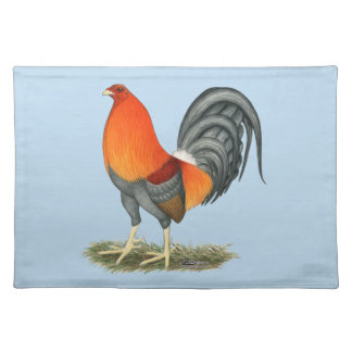 Salvamanteles Gallo del rojo azul del gallo de pelea