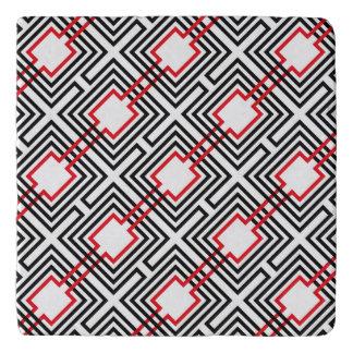 Salvamanteles Geométrico rojo y blanco negro