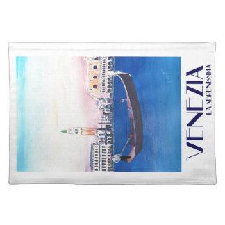 Salvamanteles Góndola de Venecia Italia en el Gran Canal con San