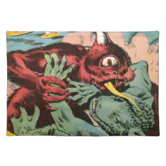 Salvamanteles Gorgo y monstruo de los Cyclops