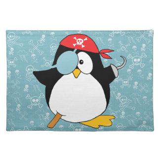 Salvamanteles Gráfico del pingüino del pirata