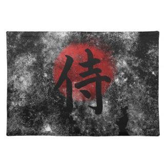 Salvamanteles Grunge 2 del samurai del kanji