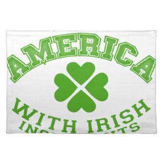 Salvamanteles Hecho en América con los ingredientes irlandeses