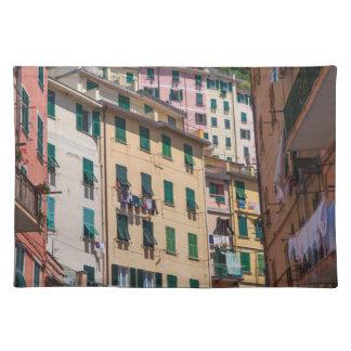 Salvamanteles Hogares coloridos en Cinque Terre Italia