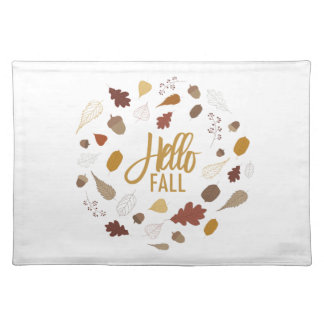 Salvamanteles Hola follaje de otoño Placemat
