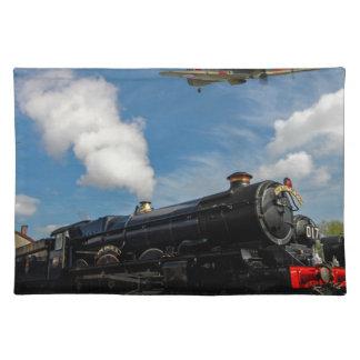 Salvamanteles Huracanes y tren del vapor