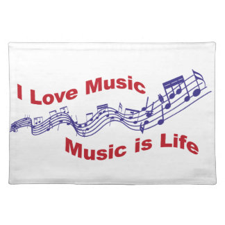 Salvamanteles I love music Music is life