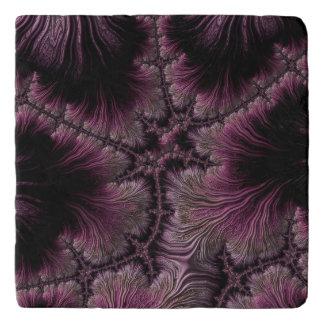 Salvamanteles Imagen del fractal en tonalidades de la berenjena