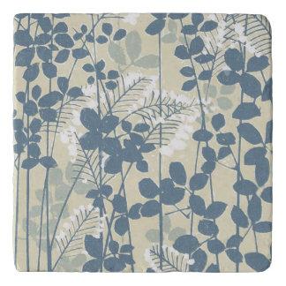 Salvamanteles Impresión azul floral de las flores del arte