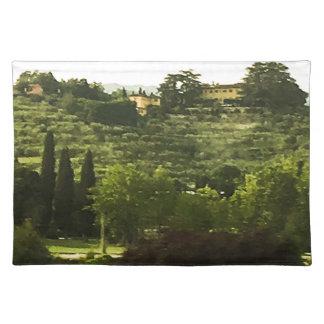 Salvamanteles Impresión de la foto de la belleza de Toscana