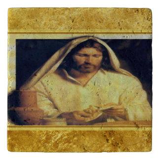 Salvamanteles Jesús que rompe textura del oro de matthew 14-13