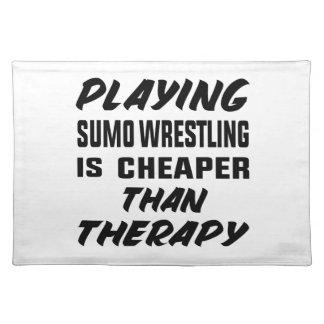 Salvamanteles Jugar la lucha de sumo es más barato que terapia