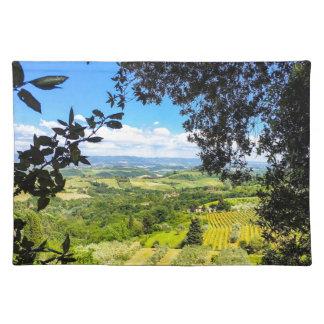 Salvamanteles La calma en la impresión de la foto de Toscana