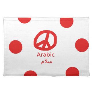 Salvamanteles Lengua y diseño árabes del símbolo de paz