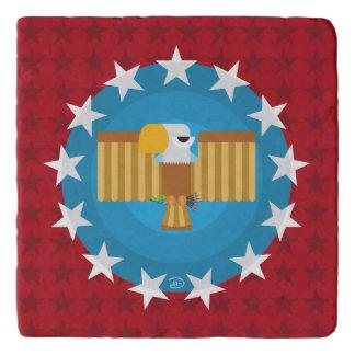 Salvamanteles Libertad Eagle (rojo) - Trivet