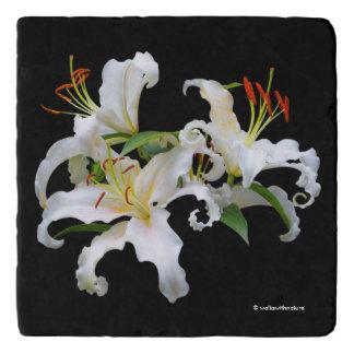 Salvamanteles Lirios orientales blancos elegantes de Casablanca