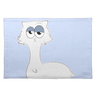 Salvamanteles Llama gruñona del gato persa