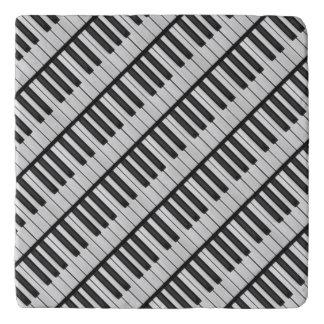Salvamanteles Llaves negras y blancas del piano