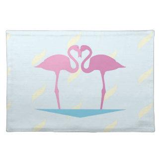 Salvamanteles Love Flamingos